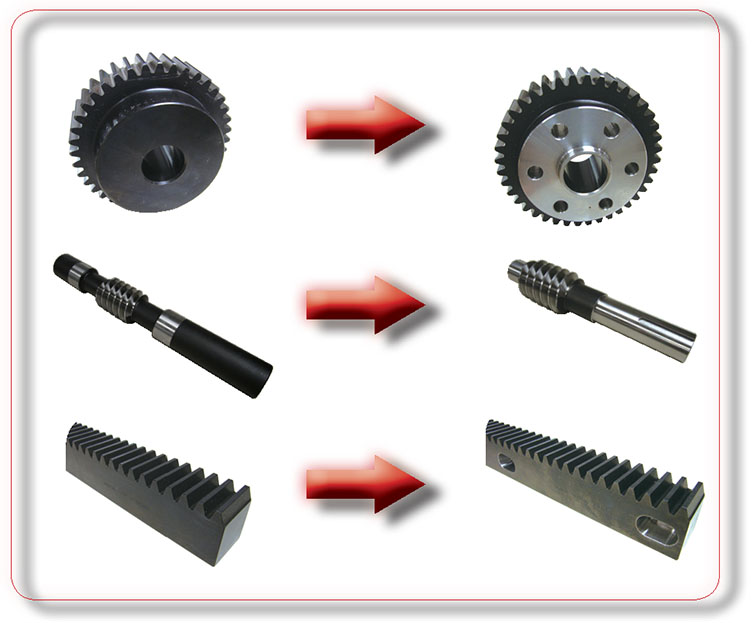 examples of modifications of gears for KHK